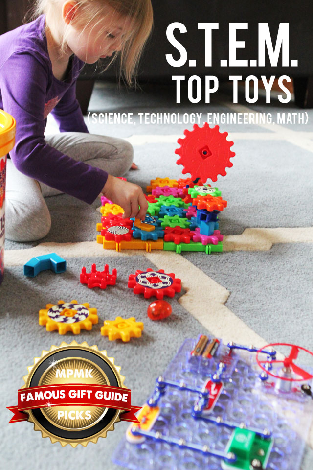 MPMK Toy Gift Guide: Top STEM Toys (Science, Technology, Engineering, & Math) for all ages - so many cool picks I'd never thought of and I love, LOVE the detailed descriptions and age recommendations. Such an amazing resource!