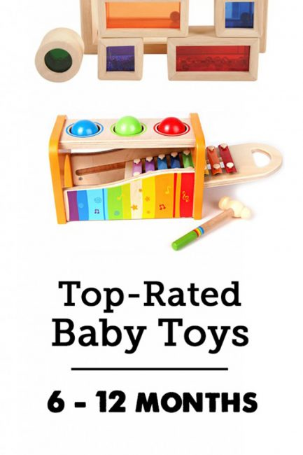 Best developmental toys for babies & young toddlers - great list for that tricky 6 - 12 month age range. Such a great guide! Lots of detailed descriptions and all of our favorites are covered! Bookmarking for anytime someone has a baby and I need the perfect gift.