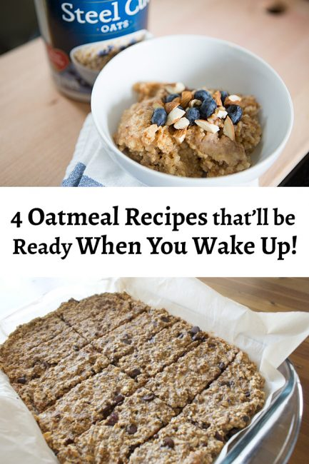 4 Oatmeal Recipes that Will be Ready When You Wake Up - Awesome On-the-Go Breakfast ideas! My mornings have been saved! #QuakerUp