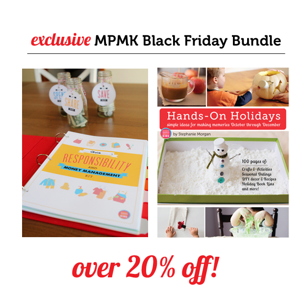 MPMK Black Friday Bundle: Hands-On Holidays eBook & Kids' Responsibility and Money Management Kit