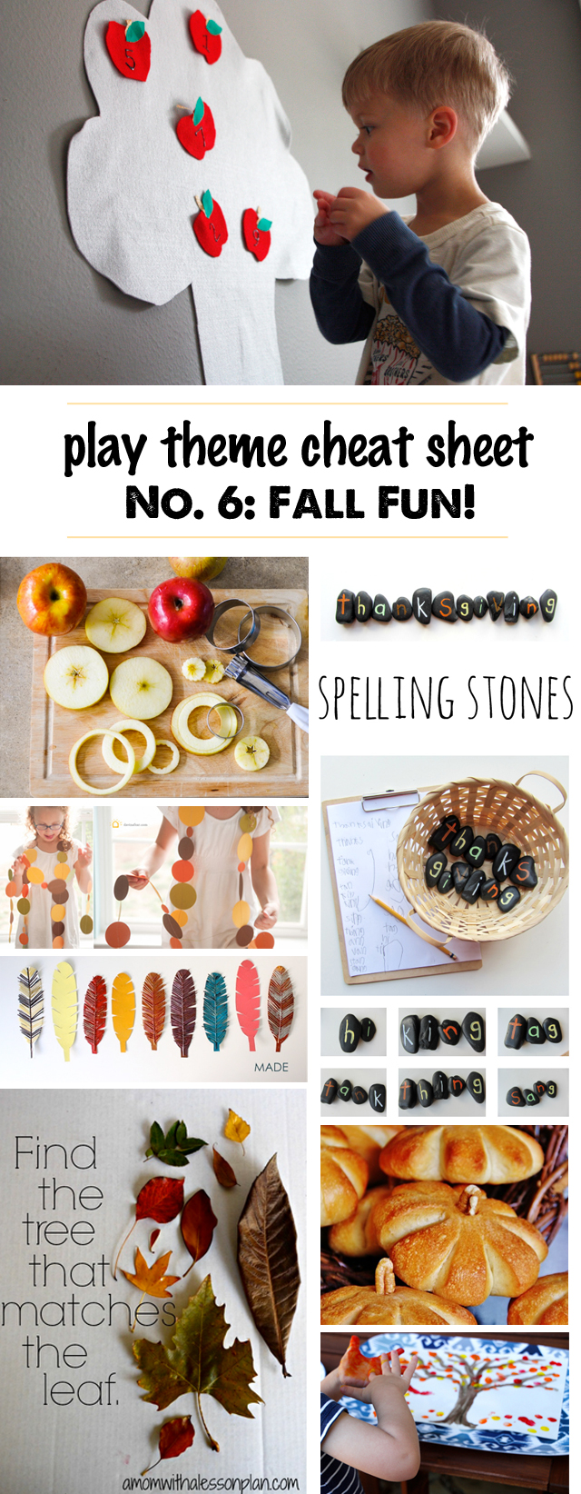 Kids Activities for Fall- Great list of easy set-up play ideas for fall, best books for fall, kid-friendly recipes for fall, and even a few fun fall toys.