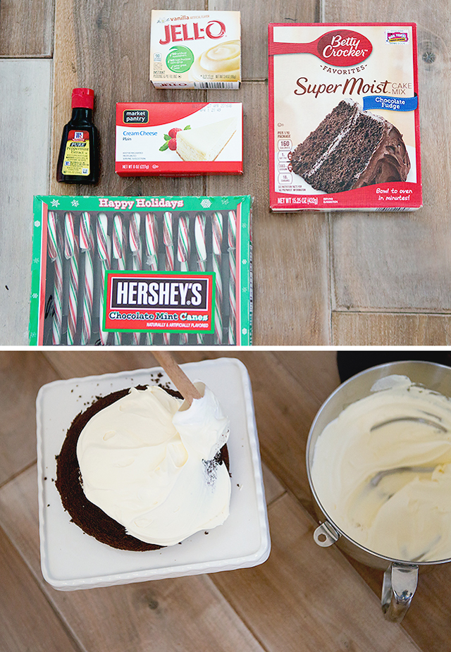 Holiday Dessert: Peppermint Snowball Cake - My favorite Christmas treat and SO easy to make!