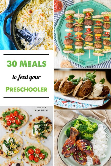 30 Dinner Ideas for Preschoolers