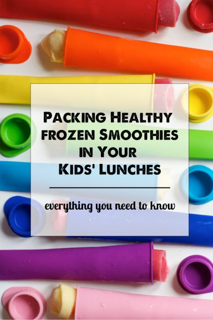 Lunch Box Smoothies 101 - The post tells you exactly how to pack healthy smoothies in your kids' lunches without making a mess. Love this idea!
