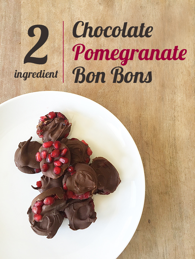 Homemade Valentine Treat Chocolate Pomegranate Bonbons