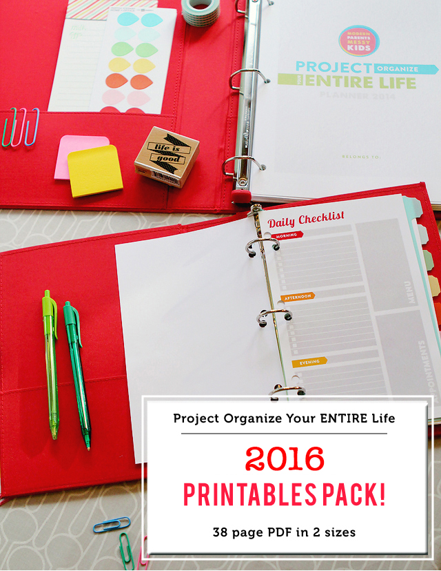 Project Organize Your ENTIRE Life printables, planner printables, how to get organized