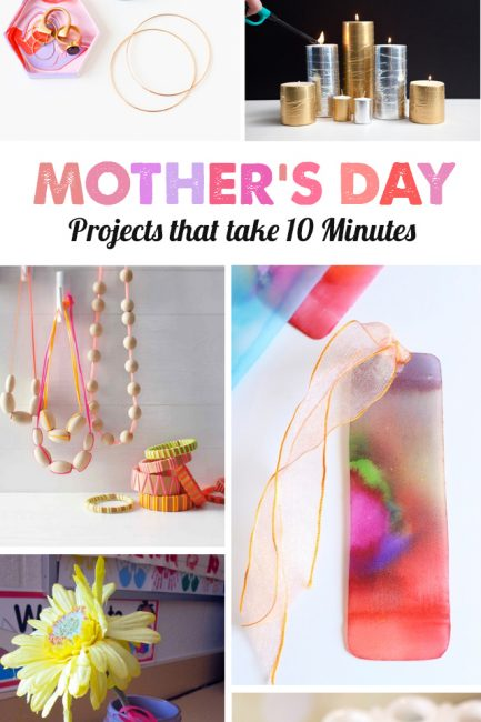Mother's Day crafts kids can make in 10 minutes - love this list for last minute ideas!