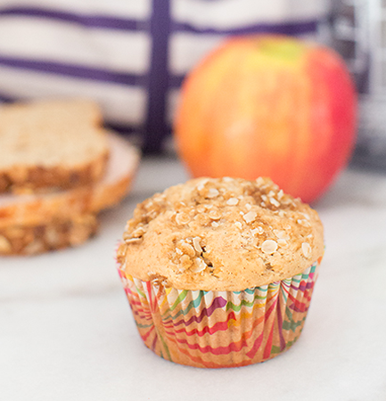 Lunchbox Hack: Batch cook and freeze these delicious apple muffins to add to the lunchbox each day!