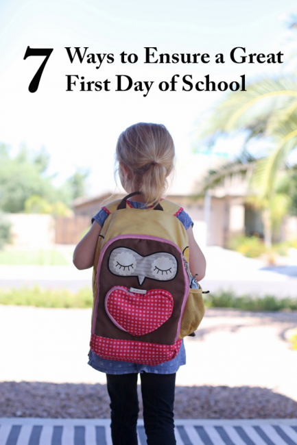 7 Tips for a Fabulous First Day of School - Lots of great ideas here for heading back-to-school, esp. #3!