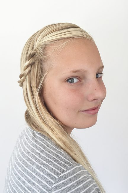 Simple twist braid - a simple hairstyle for girls that any parent can pull off!