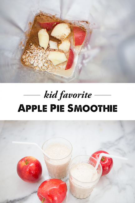Apple Pie Smoothies - an easy and nutritious breakfast the kids will love!