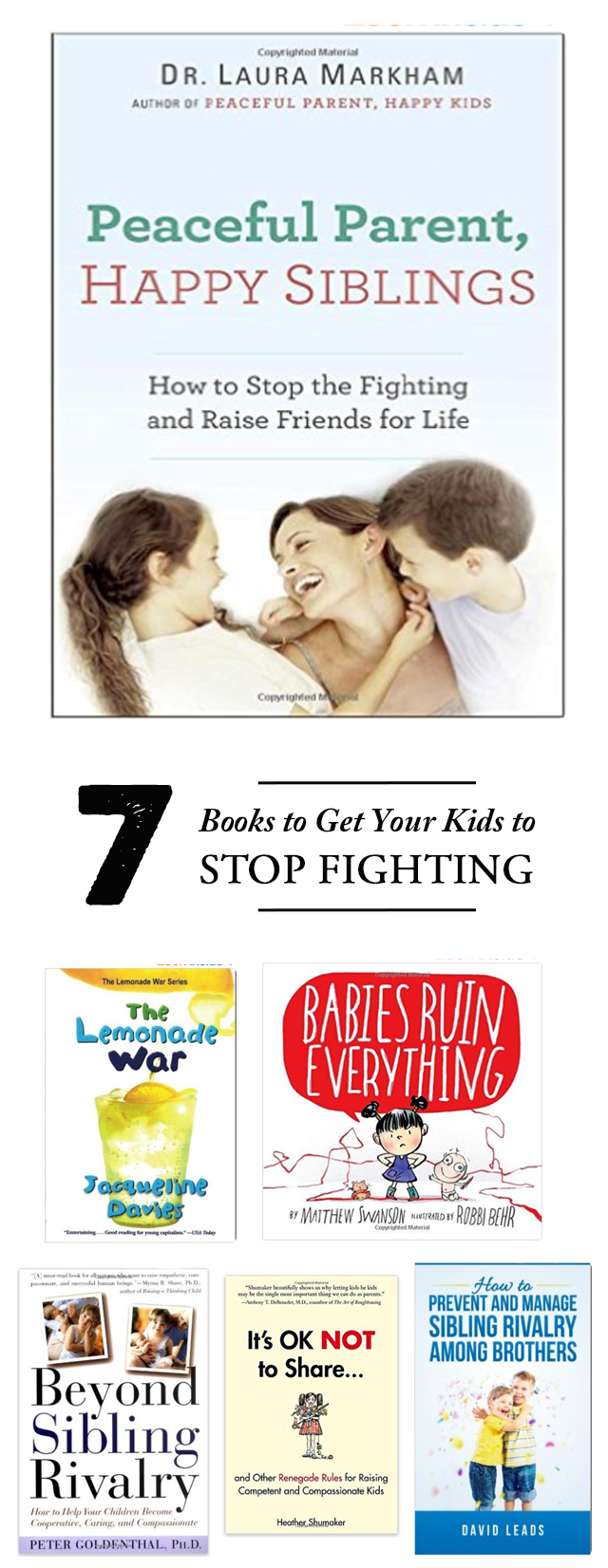 7 Books to stop your kids from fighting all the time - #2 is so helpful!