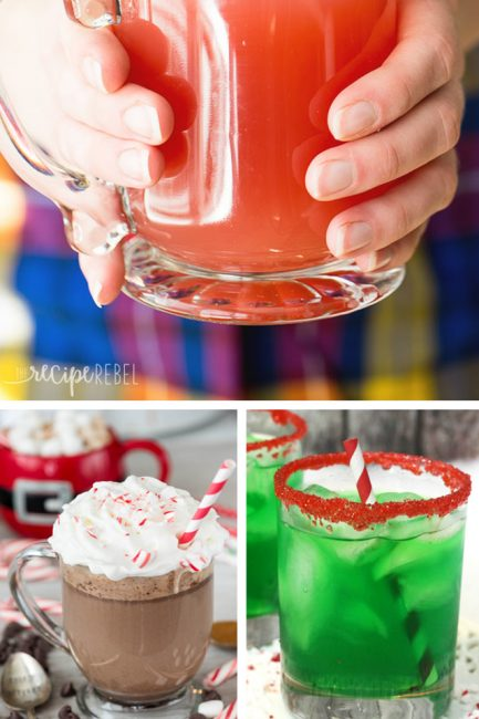 Kids holiday drinks - Fun mocktails to make for the kids this Christmas and New Years Eve!