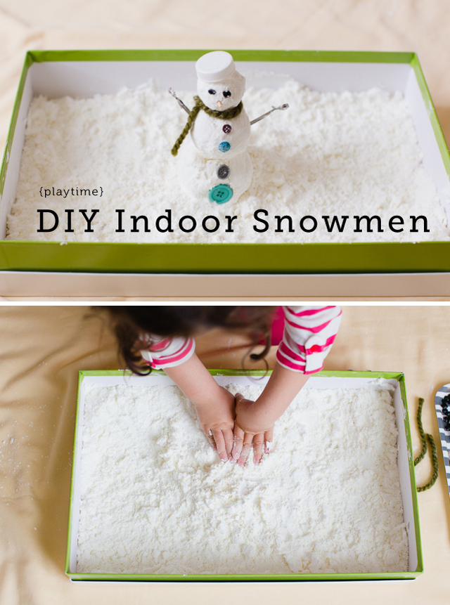 "Making Snowmen inside! Say it with me, ""Do you wanna build a snowman?"""
