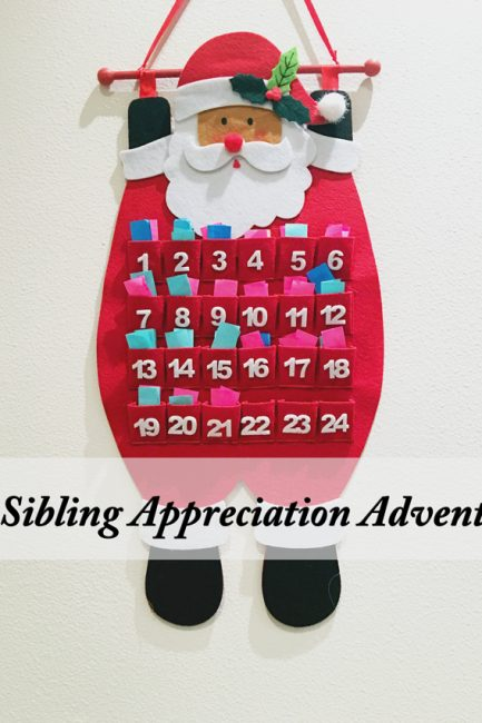 How to make a Sibling Appreciation Advent Calendar - This is such a wonderful way to promote the spirit of the season and sibling kindness!