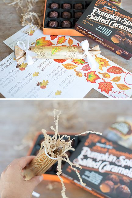 DIY Thanksgiving Table Poppers - such a fun Thanksgiving craft for the kids! Love the free printable too!