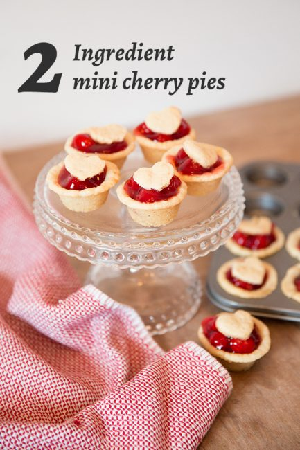 2 Ingredient Valentine's Day Treat: Mini Cherry Pies
