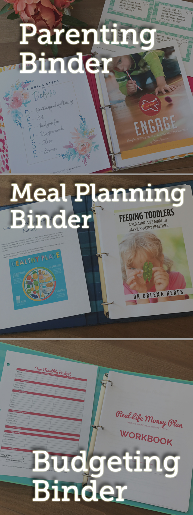 See how one mom uses three binders to organize her life like a boss!