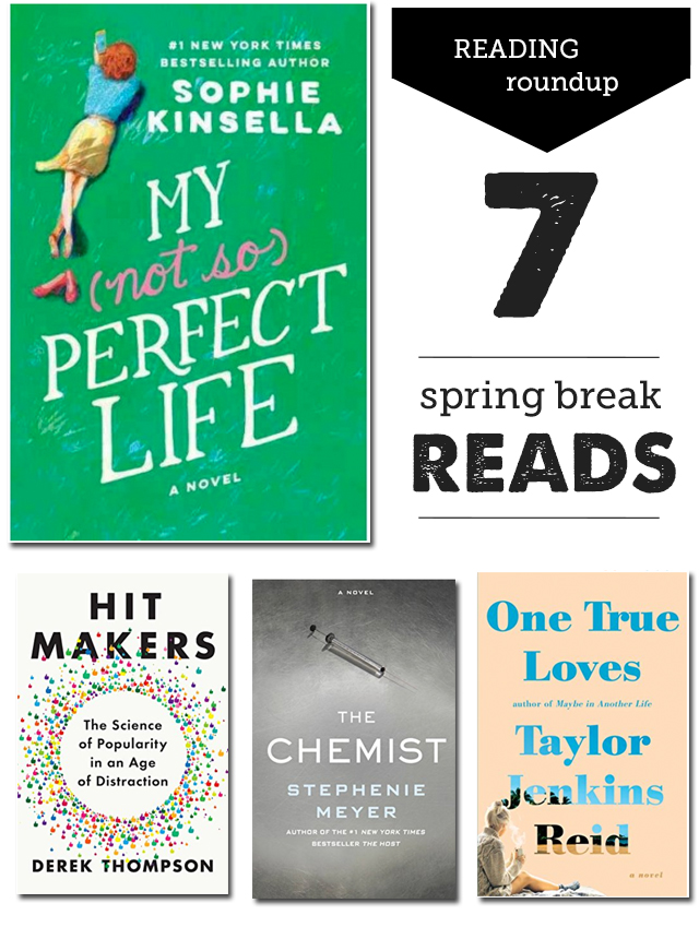 7 Books for Moms to Read on Spring Break - from memoir to chic lit, great list!