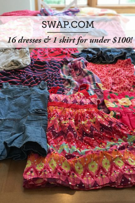 Swap.com is an online consignment store and how I got my daughter an adorable spring/summer wardrobe for under $100! #secondhandfirst #sustainableshopping #shopatswap #swapsentmecredit