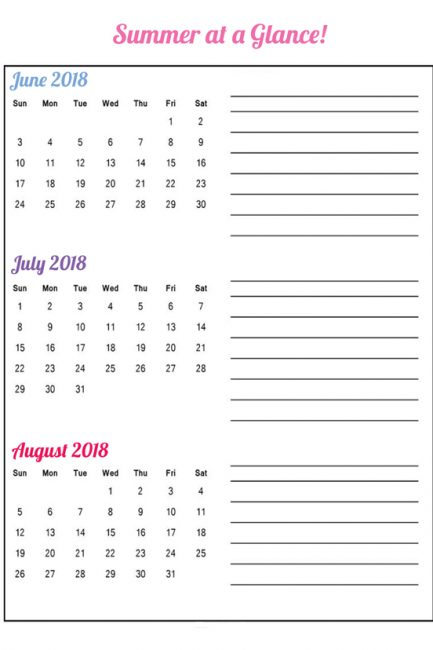 Free Printable: The Single Page Summer Planner because Camps are Already Filling Up!