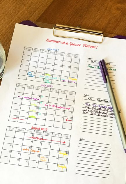 Free Printable: The Single Page Summer Planner!