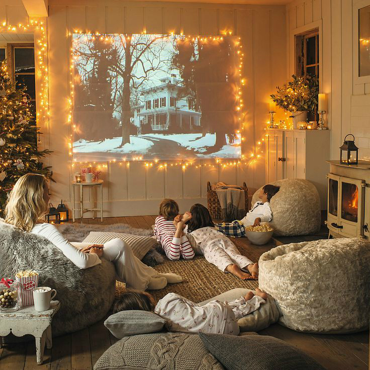 Image result for family movie night at home