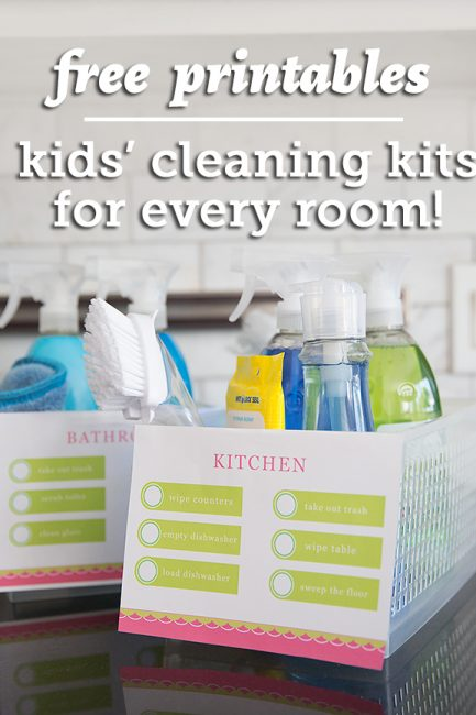 Free Printables: Kids' Cleaning Kits for Every Room