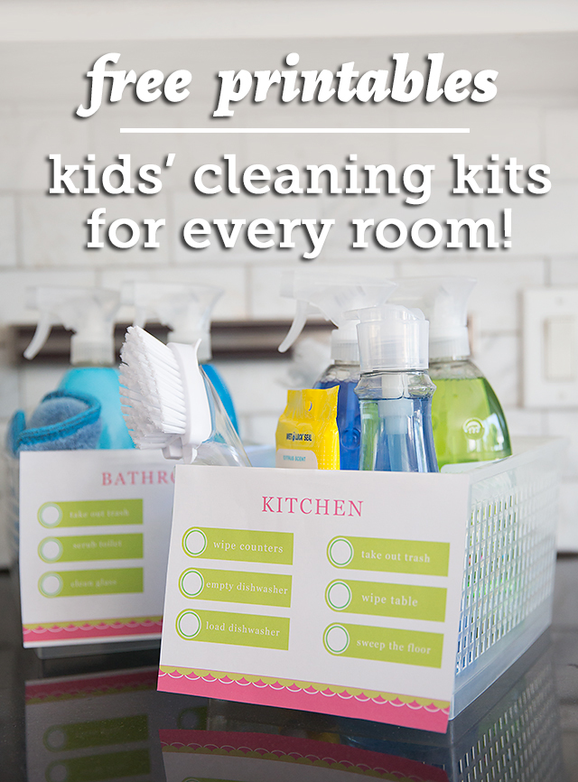 free printables, kids cleaning kits, kids chores, chores for kids, kid chore printables, kid chore lists