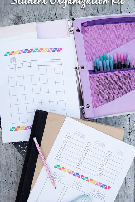 Free Printable: The Organized Student Kit