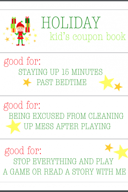 Parenting Hack: Free Printable Kid's Coupon Book for the Holidays