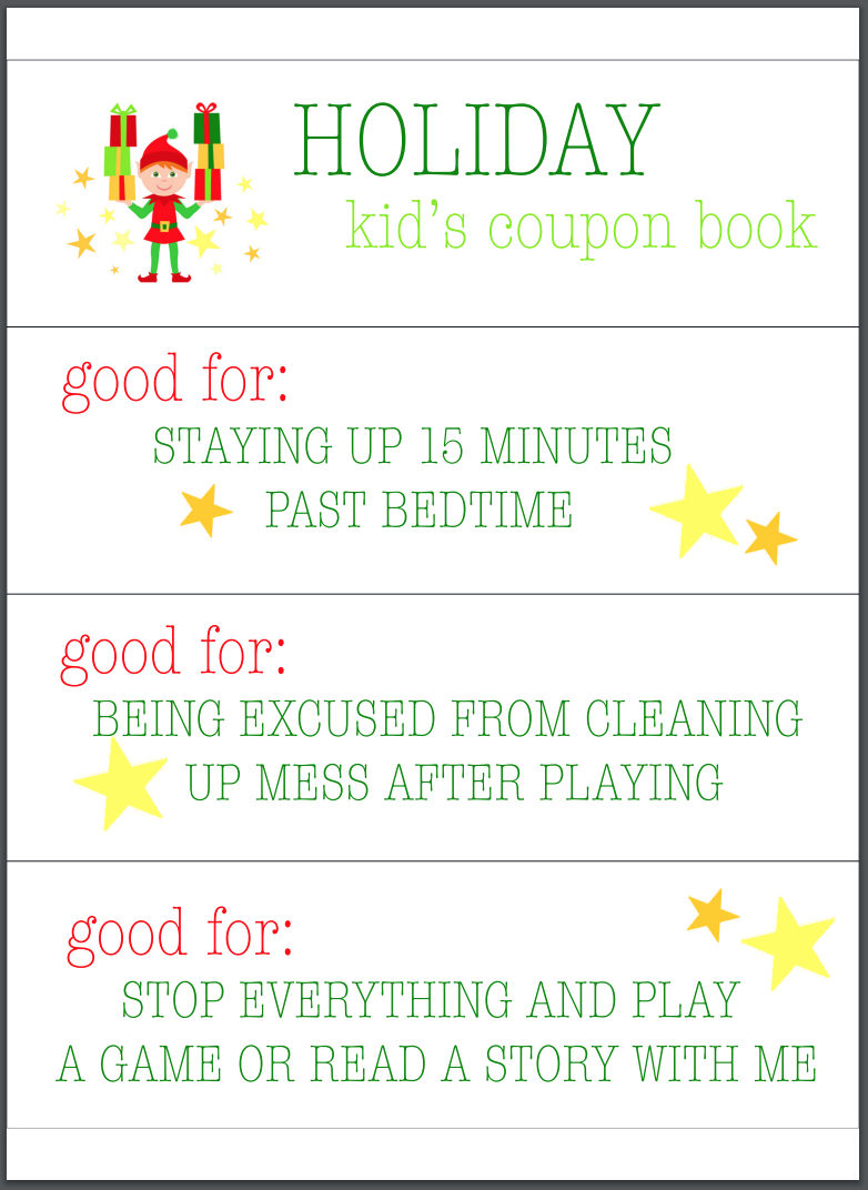 Parenting Hack Free Printable Kid S Coupon Book For The Holidays Modern Parents Messy Kids