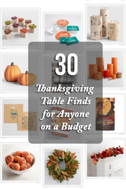 30 Budget Finds for Your Fanciest Thanksgiving Table Ever