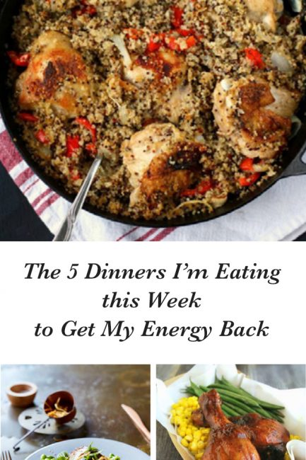 Here's Every Dinner I'm Cooking to Eat for Energy this Week