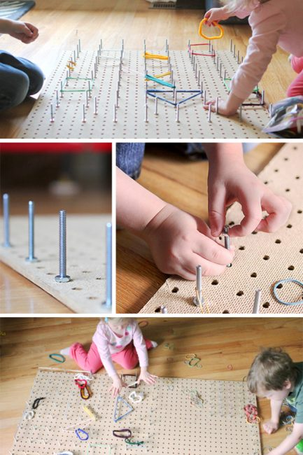 Rainy Day STEM Activity: DIY Geoboard