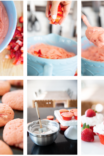 Spring Dessert: Creamy Strawberry Cupcakes with Cream Cheese Frosting